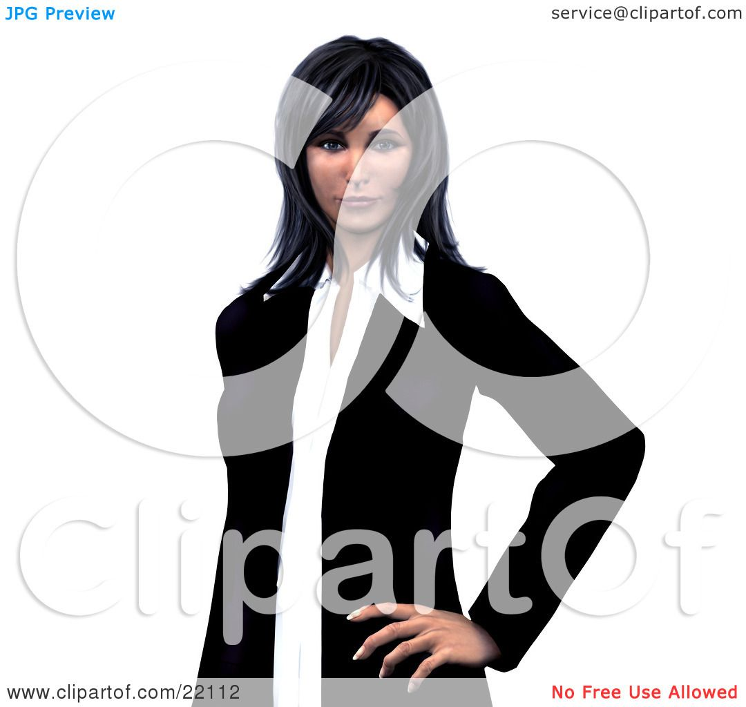 Clipart Illustration of a Confident And Successful Young Corporate.