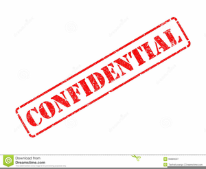 Confidential Rubber Stamp Clipart.