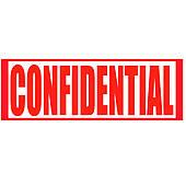 Confidential Stamp Clip Art.