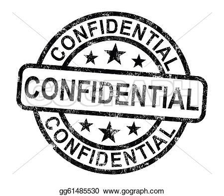 Confidential Stock Illustrations.