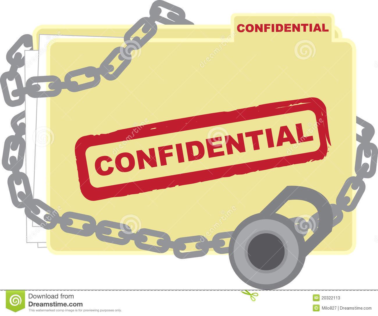 Confidential Clipart.