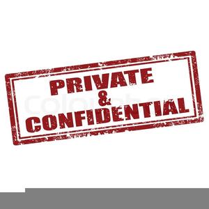 Private Confidential Clipart.
