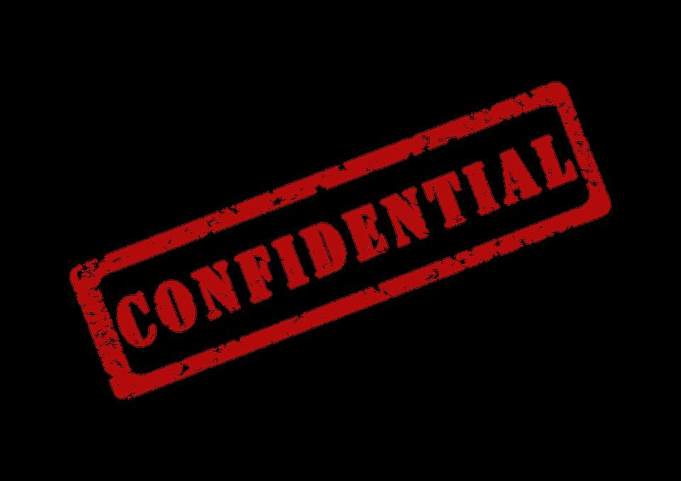 Confidential Secret Private.