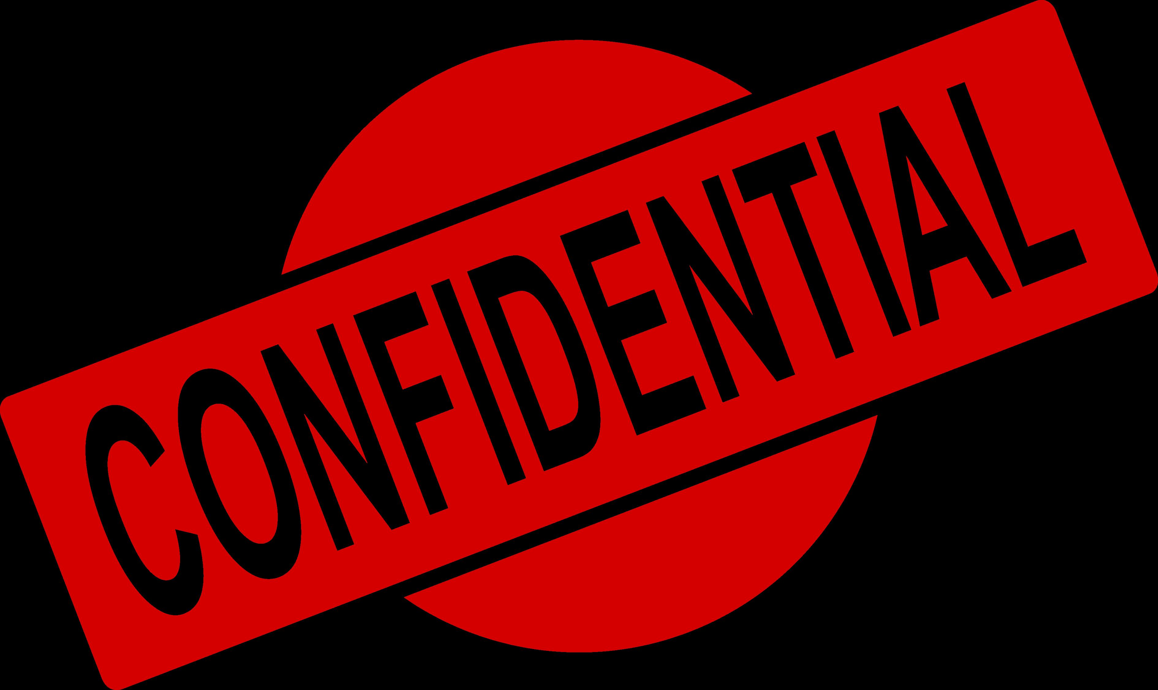 4 Confidential Stamp (PNG Transparent).