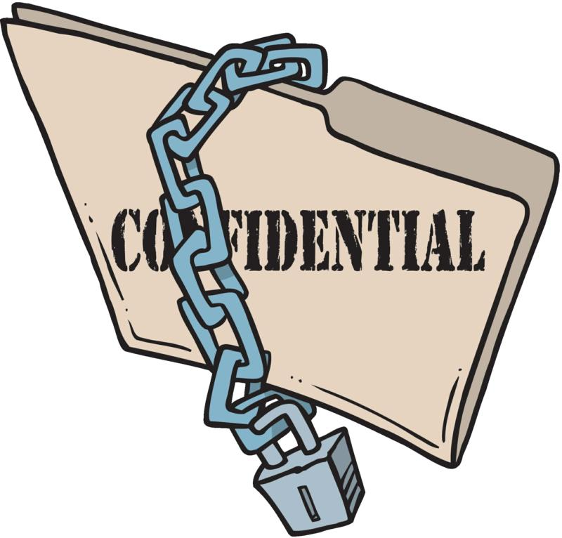 Confidentiality Clipart.