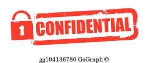 Confidentiality Clip Art.