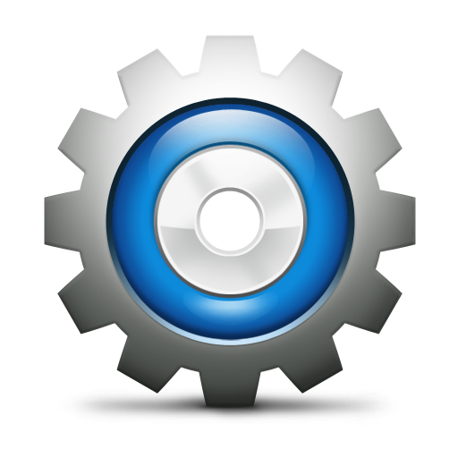Config, gears, setting icon.
