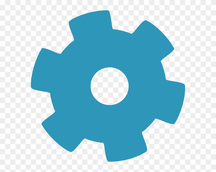 How To Set Use Blue Gear Cog Svg Vector.