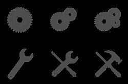Icon Set Setup Clipart Graphic.
