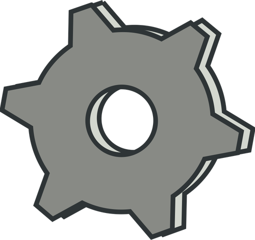 Vector clip art of grayscale settings options icon.