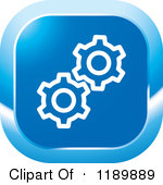 Settings icon clipart.