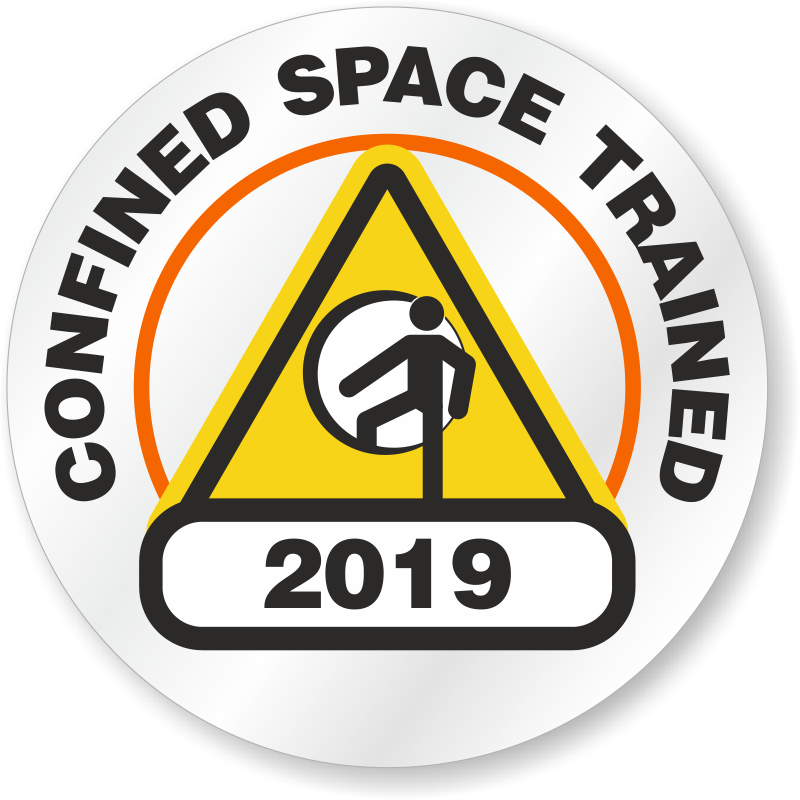 Confined Space Stickers.