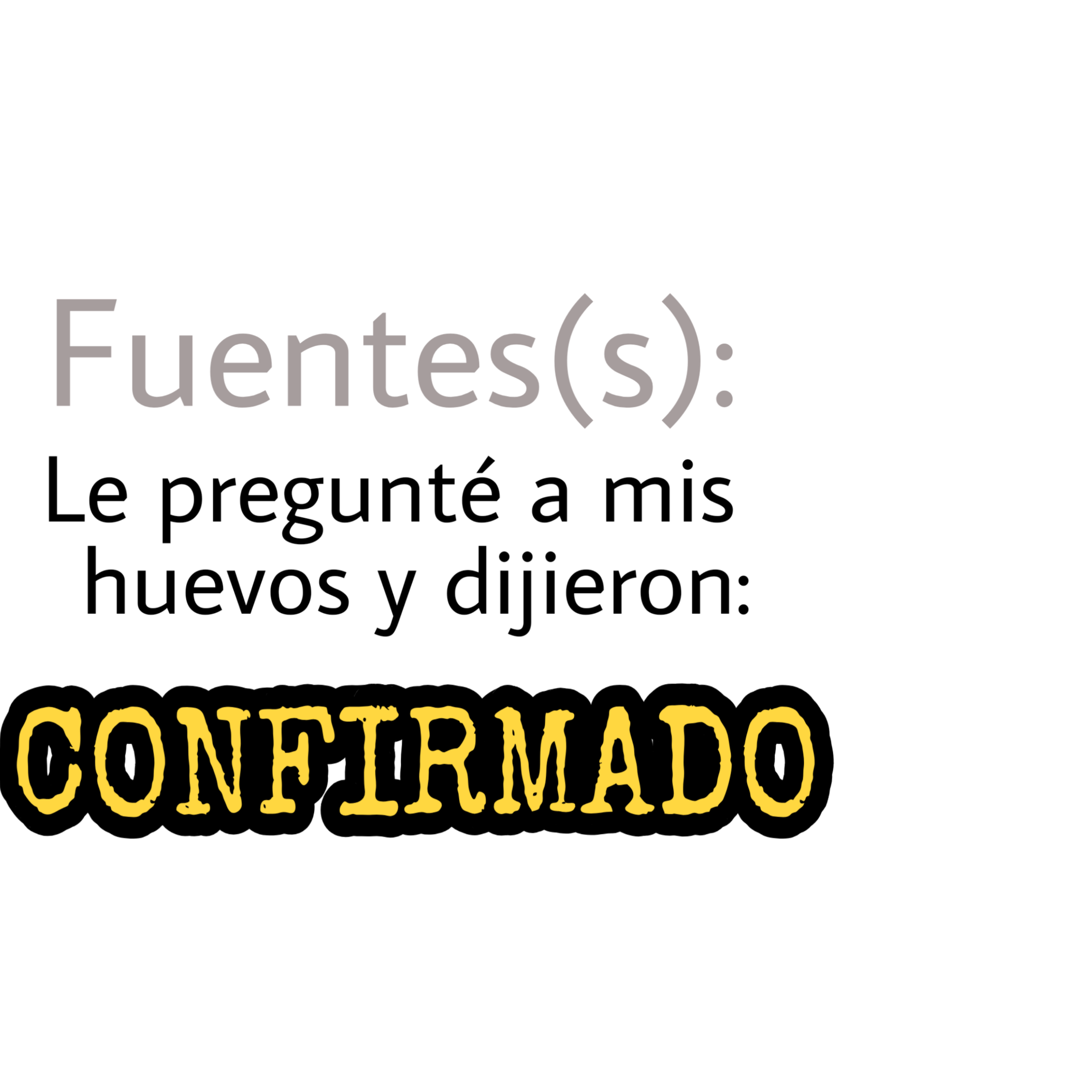 CONFIRMADO.