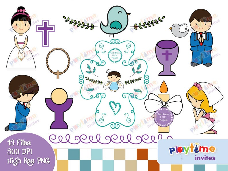 Colorful Religious Clip Art.