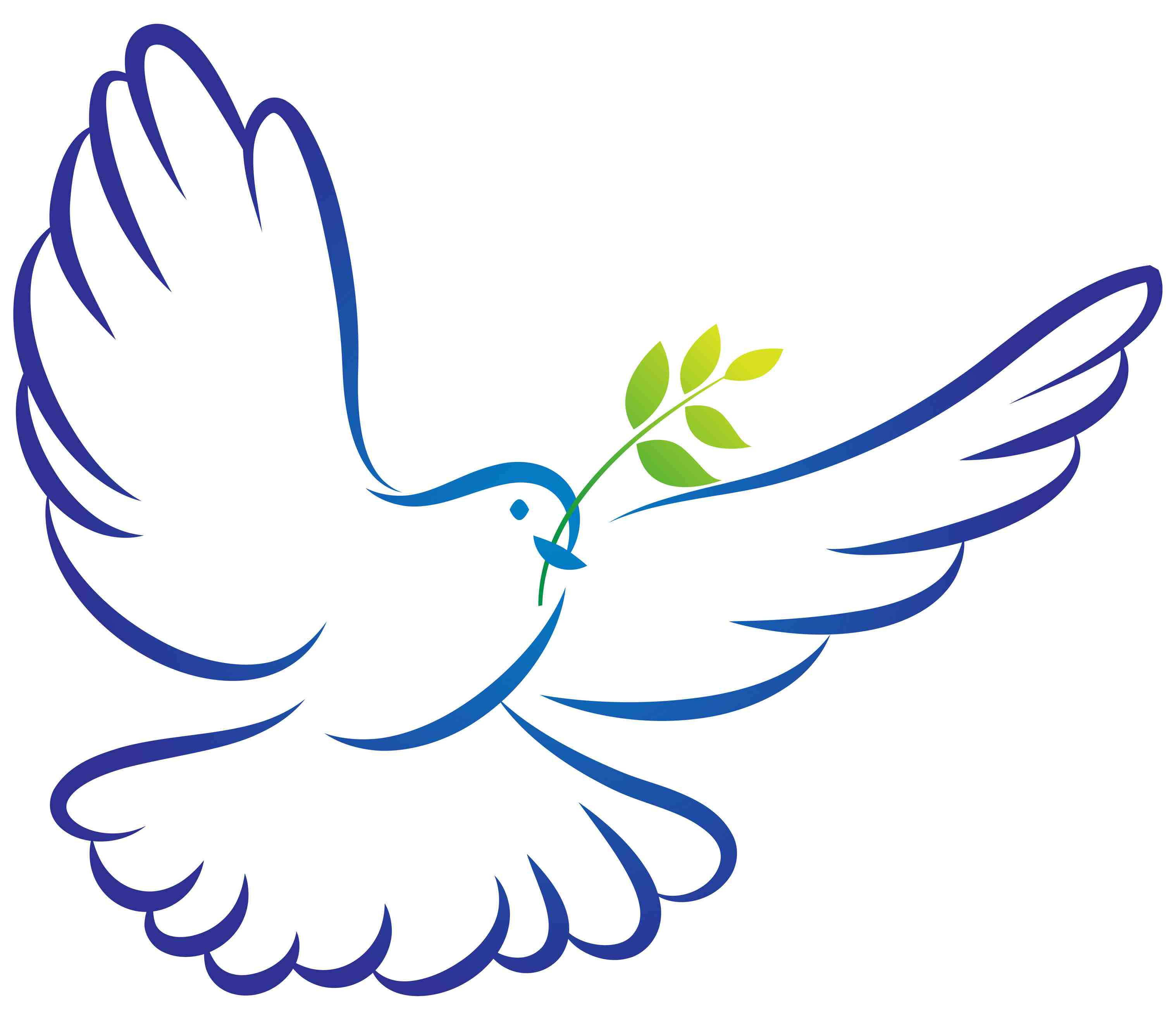 Confirmation dove clip art.
