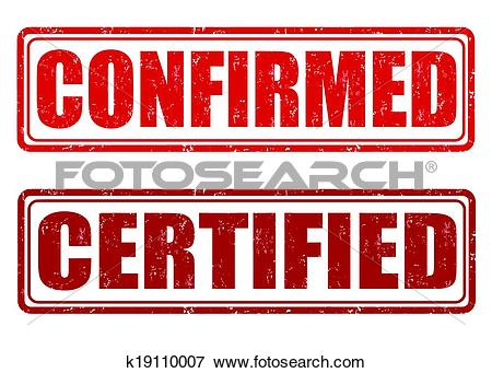 Clip Art of Confirmed and certified stamps k19110007.