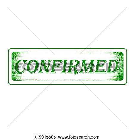 Clipart of confirmed stamp k19015505.
