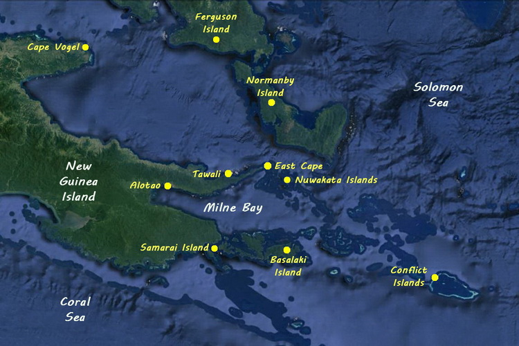 Overview of Diving Milne Bay Province.