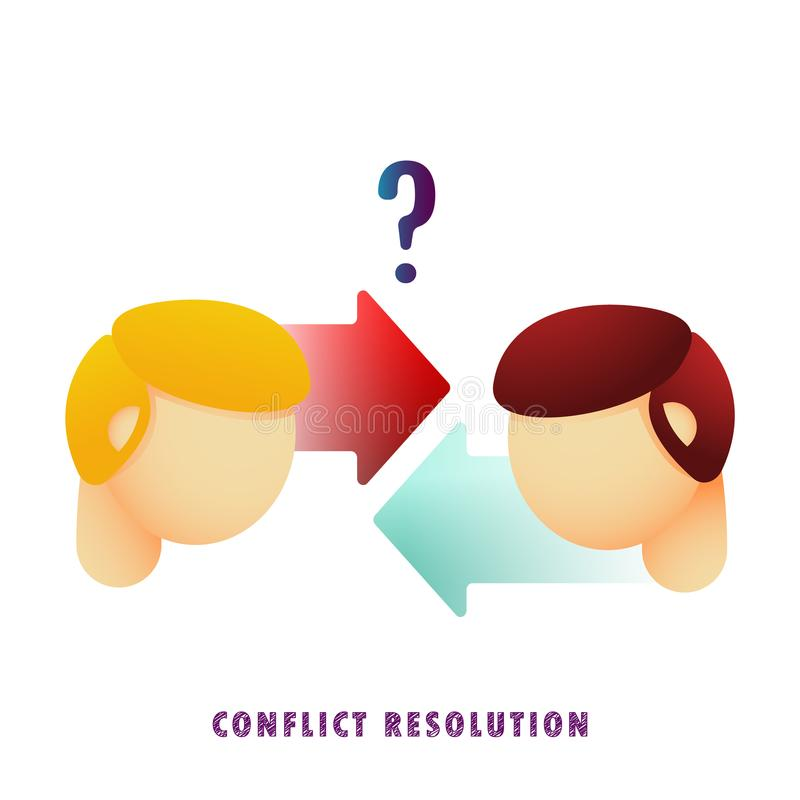 Conflict Resolution Stock Illustrations.