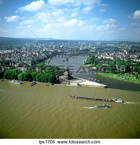 Stock Image of 10 Deutsches Eck Confluence Of The Rhine And Mosel.