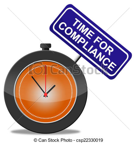 Clipart of Time For Compliance Means Agree To And Conform.