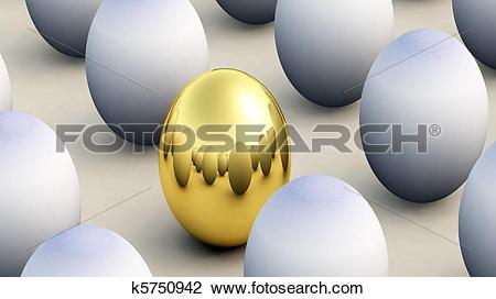 Clip Art of Non Conforming Easter Egg k5750942.