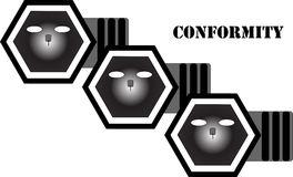 Non Conformity Stock Illustrations.