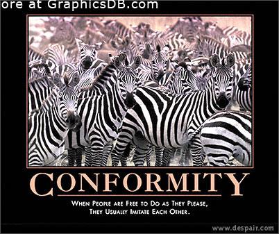Conformity clipart.