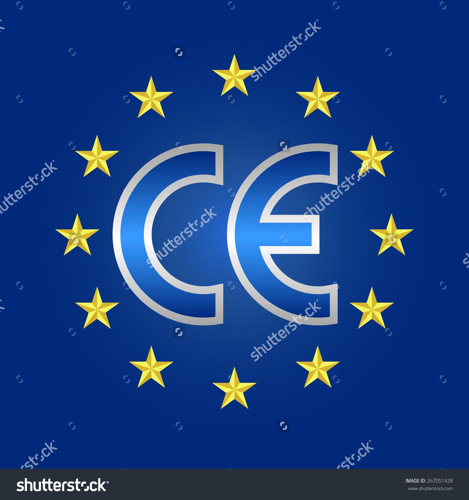 Ce Mark Blue European Quality Conformity Stock Vector 267051428.