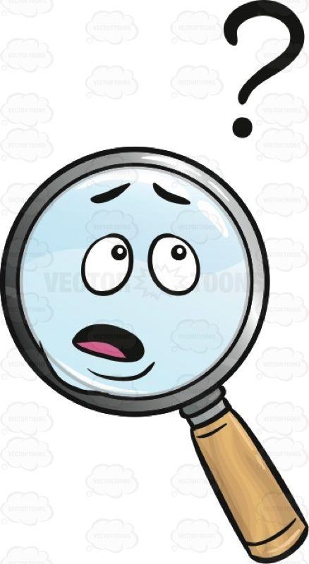 No Idea Magnifier Emoji #amplify #baffled #befuddled.