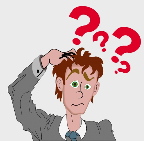 Clip art pictures of confused man.
