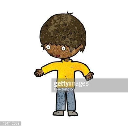cartoon confused boy Clipart Image.