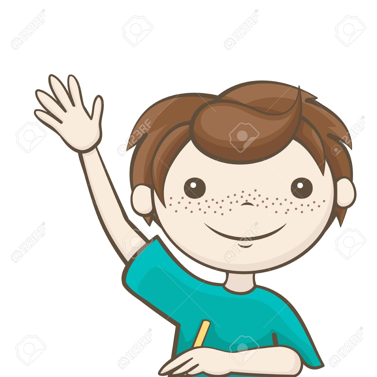 Boy Answer Questions Clipart.