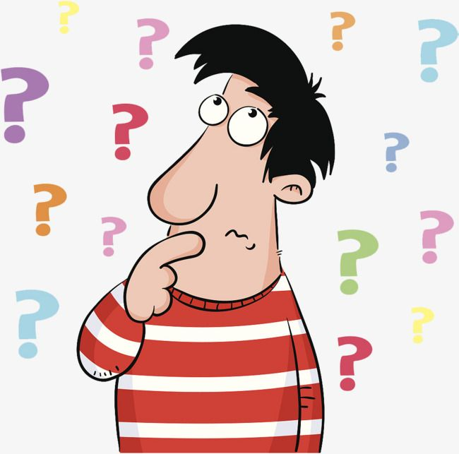 A Cartoon Illustration Is Confused By A Pile Of Questions.