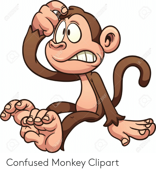 Confused Monkey Clipart.