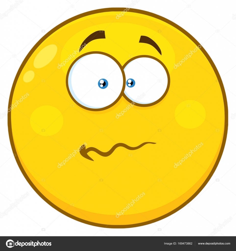 Clipart: cartoon confused face.