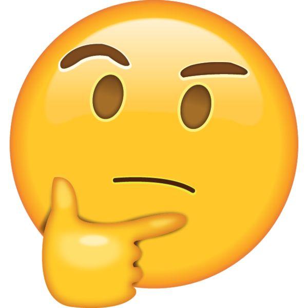 Confused Emoji Clipart.