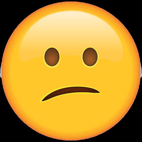 Confused Face Emoji.