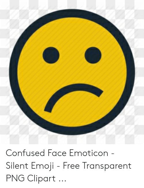 Confused Face Emoticon.