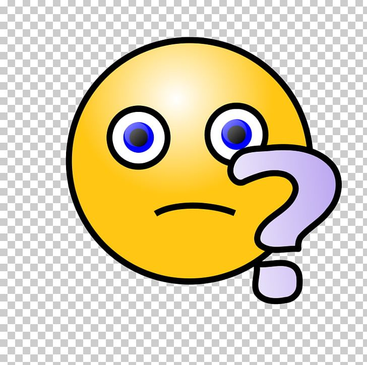 Smiley Emoticon Question Mark PNG, Clipart, Beak, Confused Smiley.