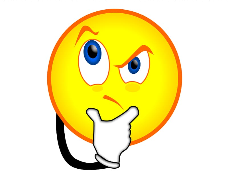Smiley Emoticon Face , Confused Face Cartoon transparent background.