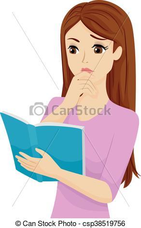 Teen Girl Book Confusion.