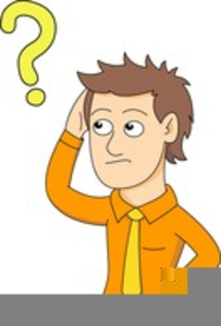 Confused Man Clipart.