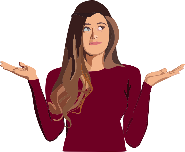 Download Free png Confused Woman.