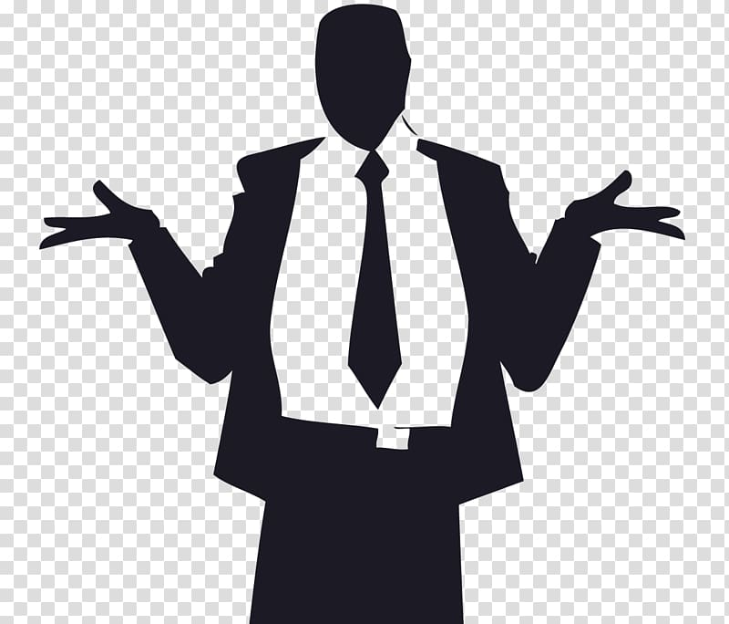 Business Male, confused transparent background PNG clipart.