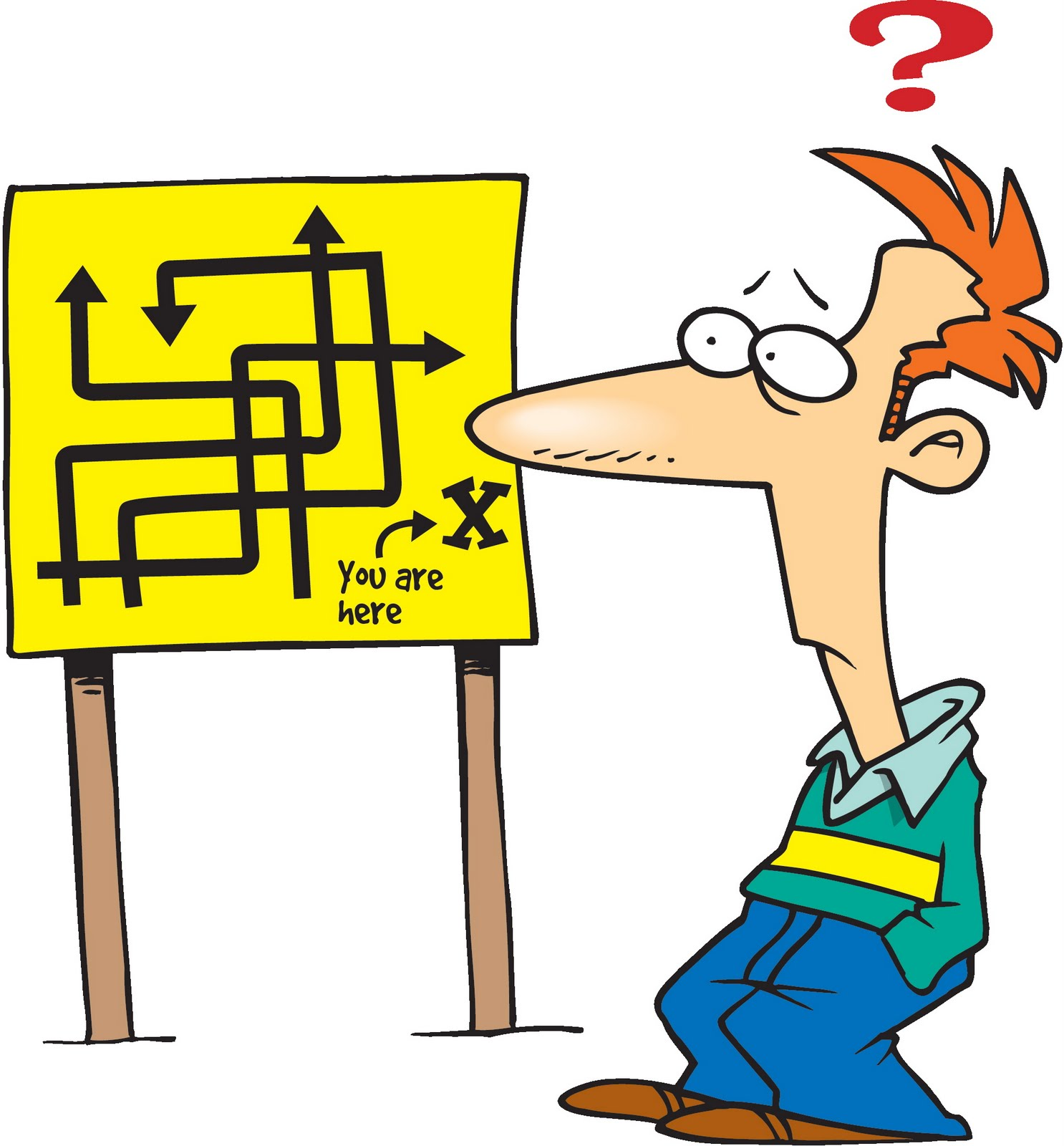 Confused Student Clipart free image.