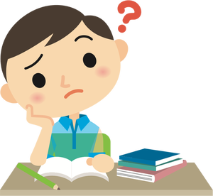 284 clipart confused student.