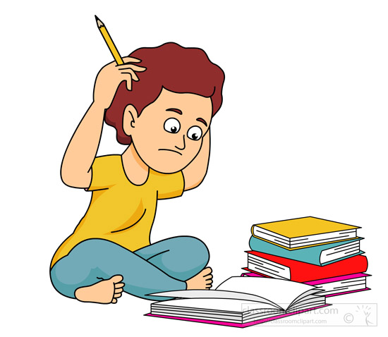 Confused Student Clipart.