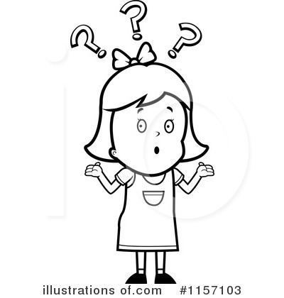 confused girl clipart black and white clipground