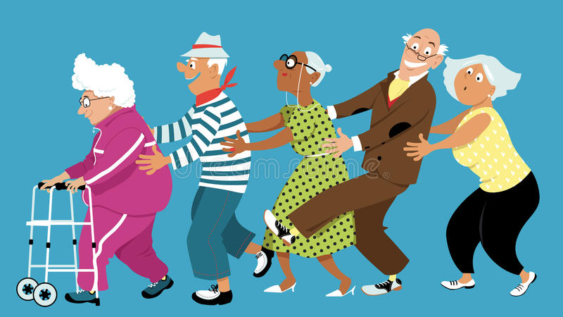 Conga Line Stock Illustrations.